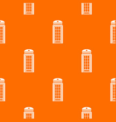 phone booth pattern seamless vector image vector image
