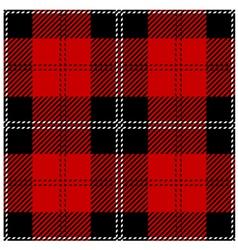 Red Scottish Seamless Tartan Plaid vector image vector image