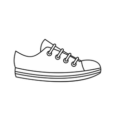 Sneaker icon outline style vector image