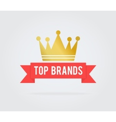 Top brand card tag vector image vector image