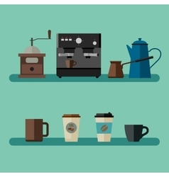 Coffee flat banner vector image vector image