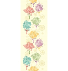 Colorful abstract trees vertical seamless pattern vector image vector image