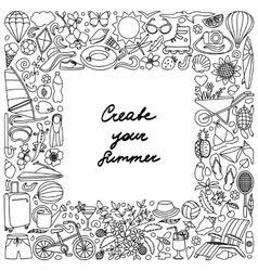 Create your Summer Frame vector image vector image