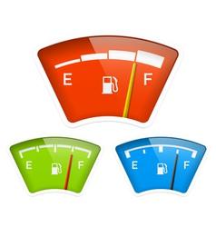 Fuel indicator vector image vector image