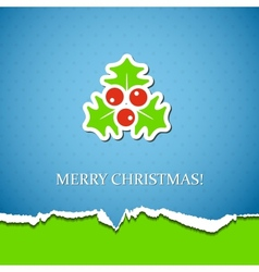 Holiday background with mistletoe vector image