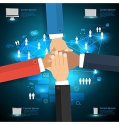 Networking technology with business team vector image