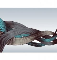 woodcut ribbons vector image vector image