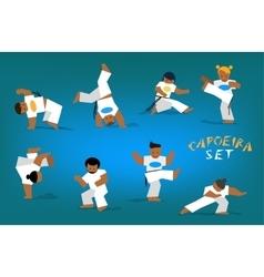 capoeira set vector image vector image
