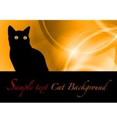 cat black background vector image vector image
