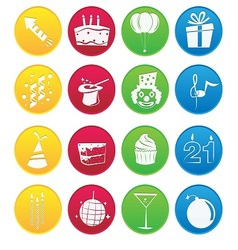 Party icon gradient style vector image