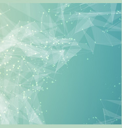Abstract light blue mesh background vector