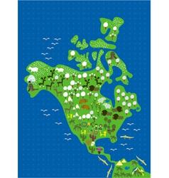 americas cartoon map vector image
