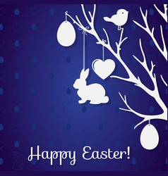 easter paper decoration in the form of tree with vector image vector image