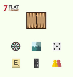 flat icon play set of arrow bones game people vector image vector image