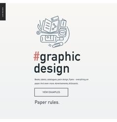 Graphic design block website template vector image
