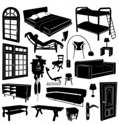 home furniture vector image vector image