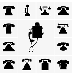 Old telephones vector image