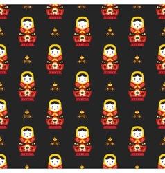 russian doll matreoshka seamless pattern vector image