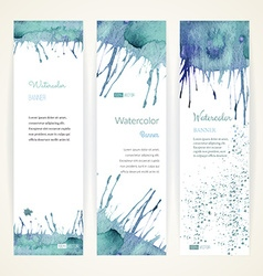 Set of watercolor banners vector image