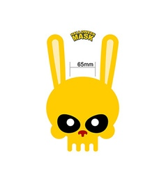 Skull hare Rabbit mask for Halloween vector image