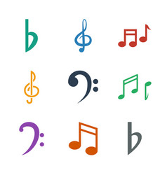 9 clef icons vector