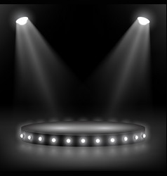 a round scene with overhead lighting and a series vector image