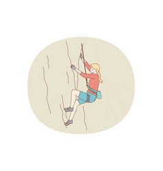 alpinism and climbing concept vector image