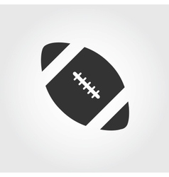 american football icon flat design vector image