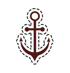Anchor sticker icon image vector