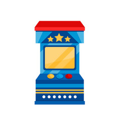Arcade game vending machine on vector