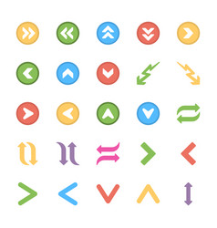 arrows colored icons set vector image