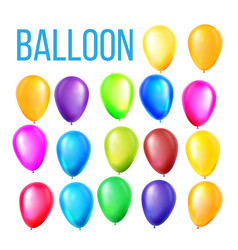 balloons set birthday holiday event vector image