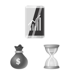 Bank and money symbol vector
