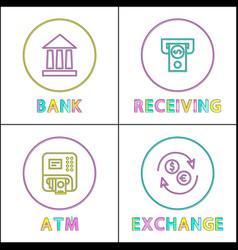 bank receiving transaction vector image