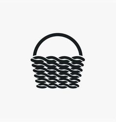 basket icon simple gardening element symbol vector image