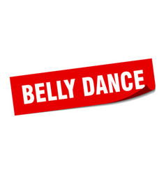 Belly dance sticker belly dance square sign belly vector