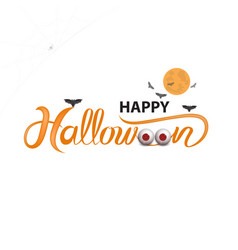 big eyes and halloween banner vector image