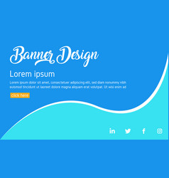 blue banner template web banner abstract poster vector image