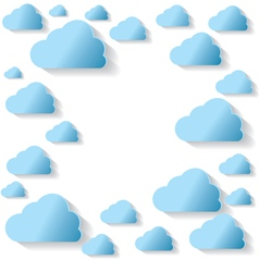 Blue Clouds On White Background vector