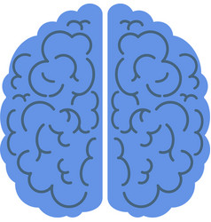 brain icon top view side view mind creativity vector image