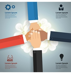 Brainstorm teamwork concept With business team vector image