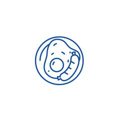 british breakfast line icon concept british vector image