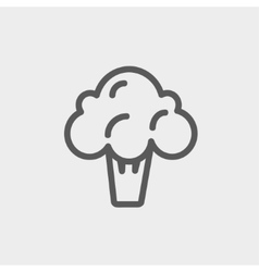 Broccoli thin line icon vector