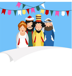chag purim sameach holiday greeting card for the vector image