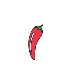 chili pepper icon on white background vector image
