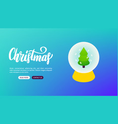 christmas lettering banner concept vector image