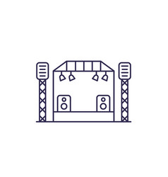 Concert stage line icon vector