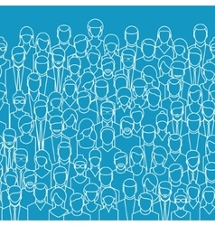 Crowd of abstract people vector