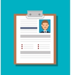 Cv document paper isolated icon vector