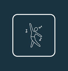 dancing icon line symbol premium quality isolated vector image